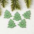 Christmas Tree Button Embellishments