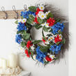 Patriotic Artificial Daisy and Hydrangea Wreath