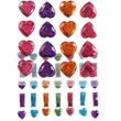 Hearts and Bars Rhinestone Stickers
