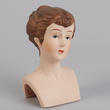 Porcelain Brunette Doll Head - True Vintage