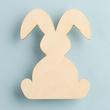 Unfinished Wood Floppy Eared Bunny Rabbit Cutout