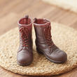 1:6 Scale Miniature Dark Brown Army or Hunting Boots - Vintage