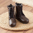 Miniature Brown Leather Boots with Laces - Vintage Find