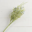 Blue Artificial Flower and Grass Pick