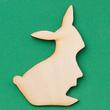 Unfinished Wood Standing Bunny Cutout