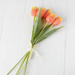 Artificial Orange and Yellow Tulip Bundle