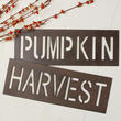 Set of Rustic Metal Cutout Autumn Signs