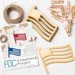 Unfinished Wood Flag Cutout Garland Kit