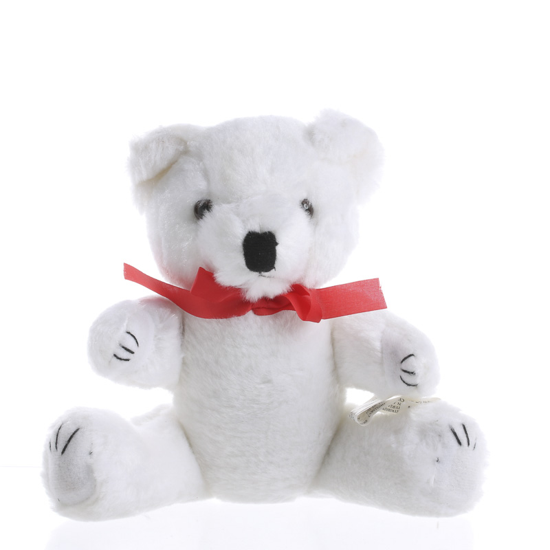 White Plush Jointed Craft Teddy Bear Bears And Bunnies