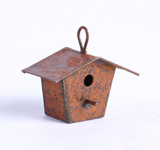 Miniature Rusty Tin Birdhouse Fairy Garden Supplies