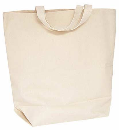 Natural Canvas Reusable Grocery Tote Bag - Bags - Basic Craft ...
