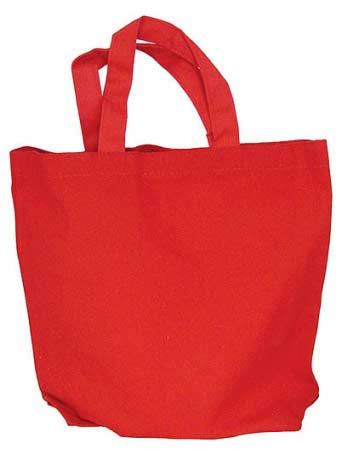 Red Gusseted Canvas Tote Bag - Bags - Basic Craft Supplies - Craft ...
