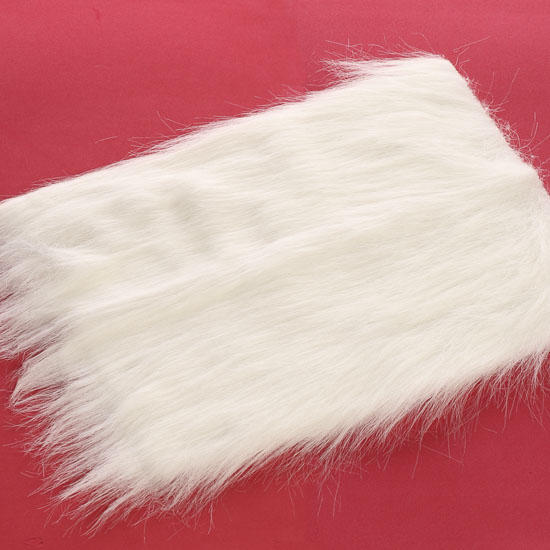 White long pile craft faux fur doll hair doll making for Furry craft