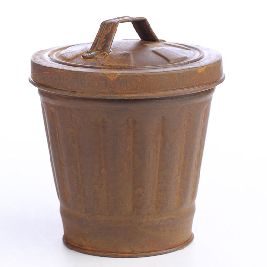mini rusty trash can decorative containers kitchen and