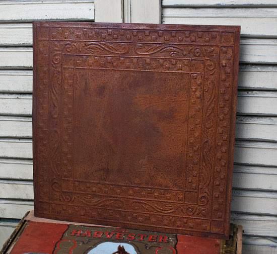 Vintage Inspired Checks Rusty Tin Ceiling Tile