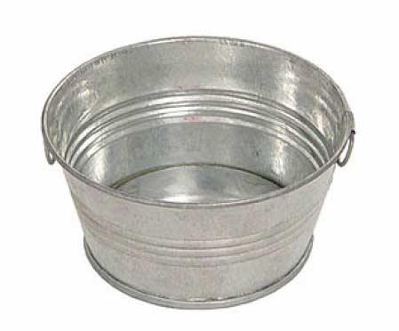 Galvanized Metal Wash Tub - Decorative Containers - Kitchen and Bath ...