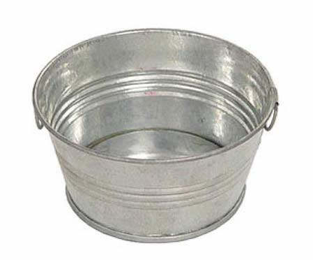 ... Metal Wash Tub - Decorative Containers - Kitchen and Bath - Home Decor