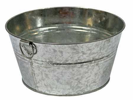 galvanized metal washtub decorative containers kitchen and bath home decor. Black Bedroom Furniture Sets. Home Design Ideas