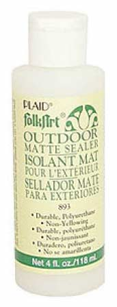 4oz folk art matte finish outdoor sealer mediums and for Waterproof acrylic sealer for crafts