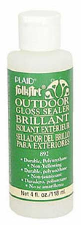 Folkart glossy outdoor sealer mediums and finishes for Waterproof acrylic sealer for crafts
