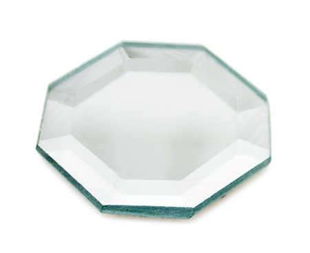 2 octagon beveled mirror centerpiece mirrors party for Octagon beveled mirror