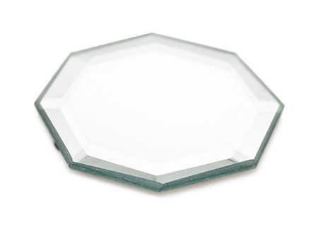 3 octagon beveled mirror centerpiece mirrors party for Octagon beveled mirror