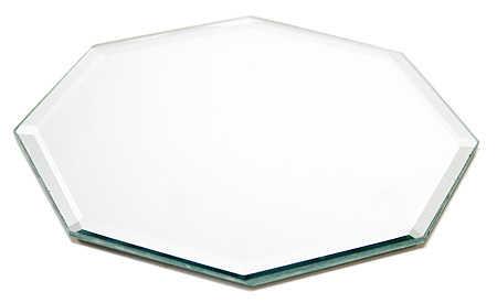 10 octagon beveled mirror centerpiece mirrors party for Octagon beveled mirror