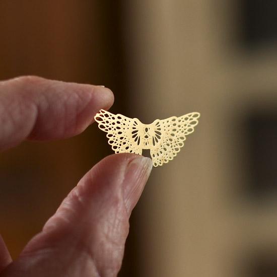 "1-1/8"" Gold Metal Filigree Angel Wings - 4pcs - Jewelry ..."