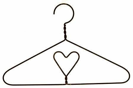 10 1 2 Black Wire Child Heart Hanger Primitive Sale Sales