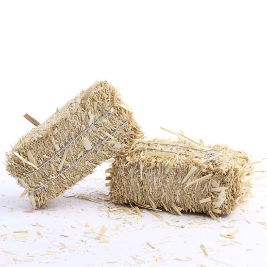 Natural straw hay bales what 39 s new dollhouse for Bales of hay for decoration