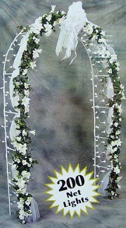 8 Ft Lighted White Indoor Outdoor Wedding Arch 200 Clear