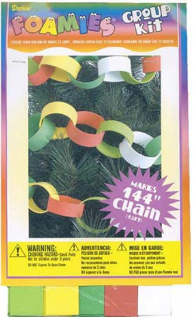 Craft foamies 12 foot loop chain group kit kids craft for Craft chain by the foot