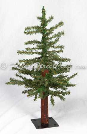item rc1029v 2 foot alpine wood trunk primitive country tree - 2 Foot Christmas Tree
