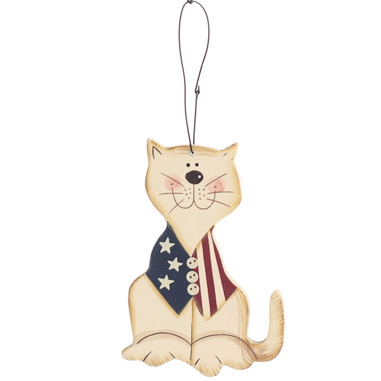 Americana cat ornament fourth of july americana for Cat christmas ornaments craft
