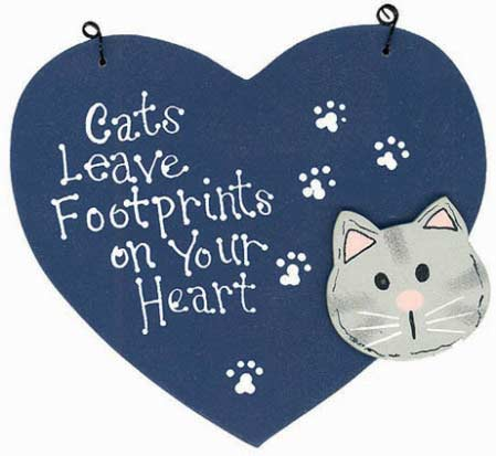 Cat's Leave Footprints Wooden Sign - Cats - Dogs - Pets Signs ...