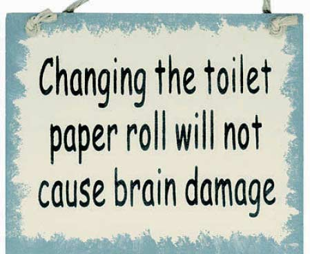 """Changing the Toilet Paper Roll..."" Sign Magnet - Signs ..."