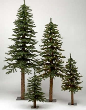 7 Foot Alpine Skinny Tree Country Christmas Tree Trees