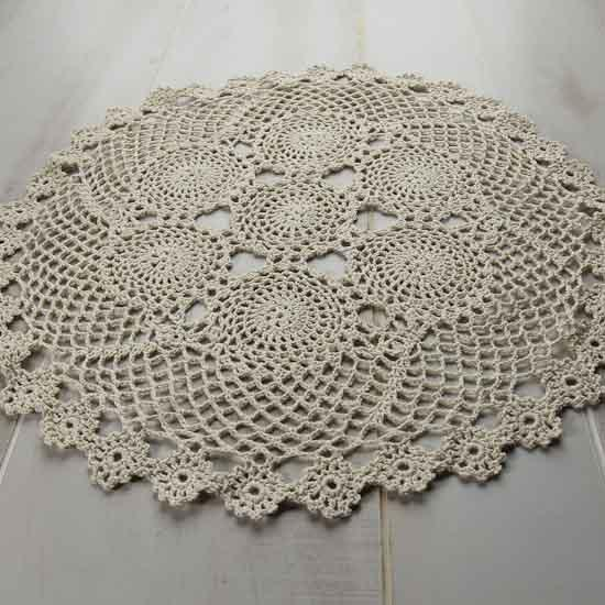 Crochet Flower Doily Pattern : Pin Crochet Doily Pattern Free Patterns Knitting How ...