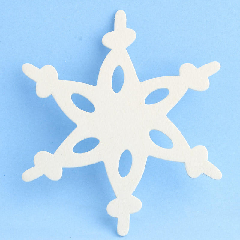 Unpainted Wood on Unfinished Wood Lace Snowflake Cutout   Winter Holiday Cutouts   Wood