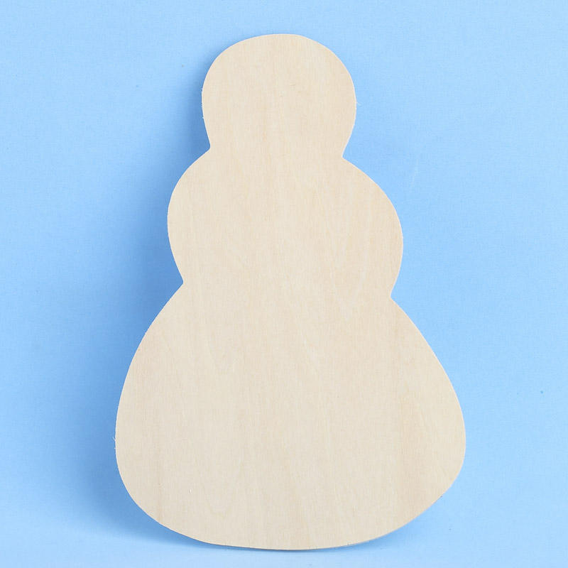 Unfinished wood snowman cutout wood cutouts unfinished for Wooden christmas cutouts