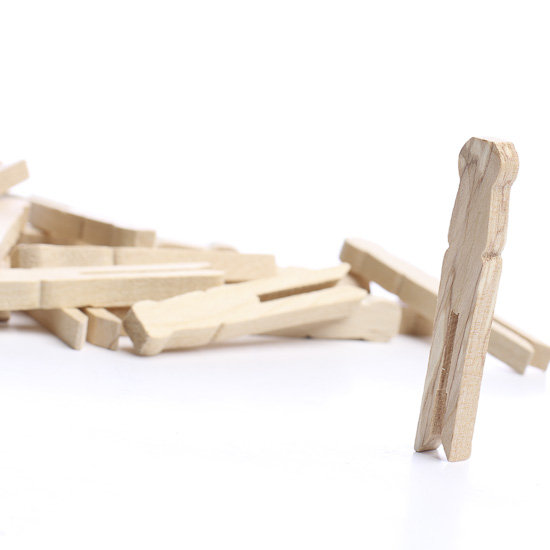 Flat unfinished wood clothespins clothespins for Wooden craft supplies online