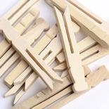 Flat Wood Slotted Clothespins