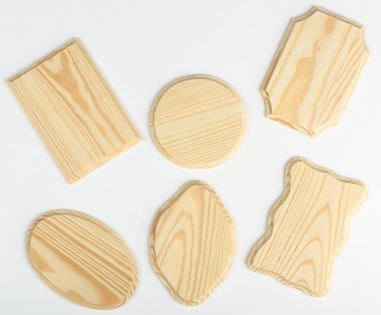 Plain wood plaques crafts