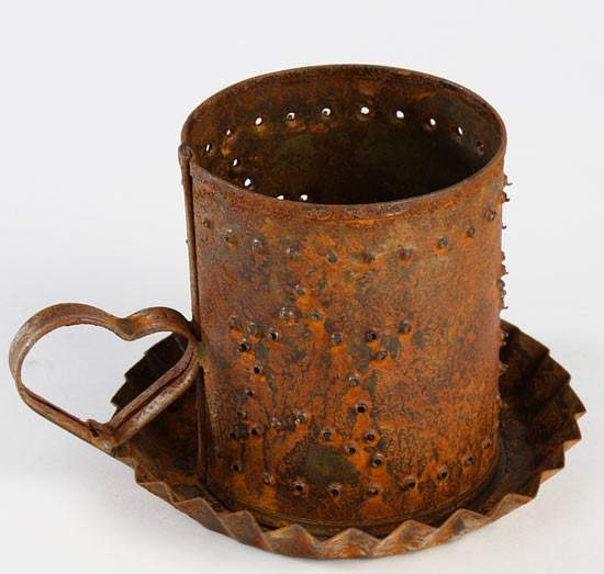 Rusty Tin Punch Star Tart Candle Holder - Candles and ...