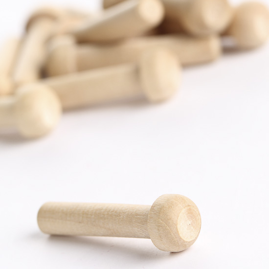 Wooden Toy Parts Catalog : Unfinished wood axle pegs wooden toy wheels