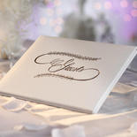 Simple White Guest Registry Book