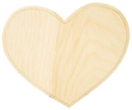Unfinished wooden heart plaque wooden plaques and signs for Wood plaques for crafts