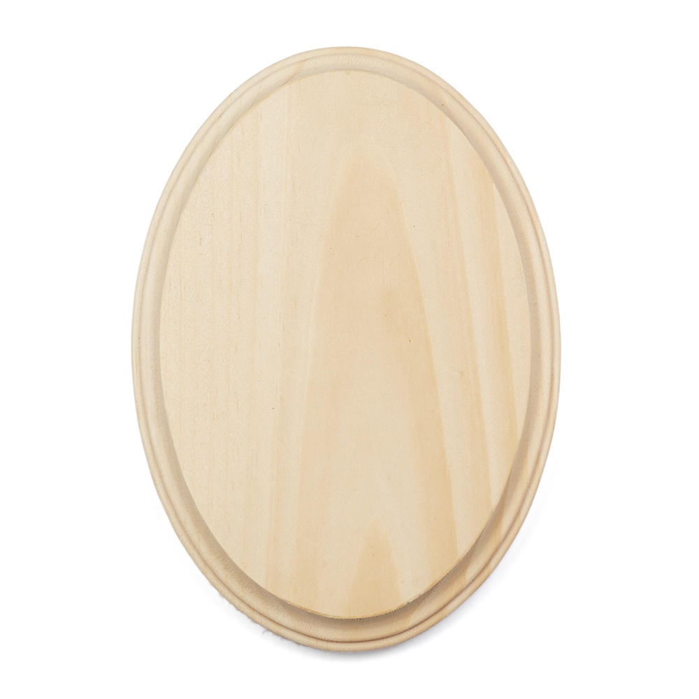 Unfinished Oval Wooden Plaque  Wooden Plaques and Signs  Unfinished Wood   -> Table Oval Laque