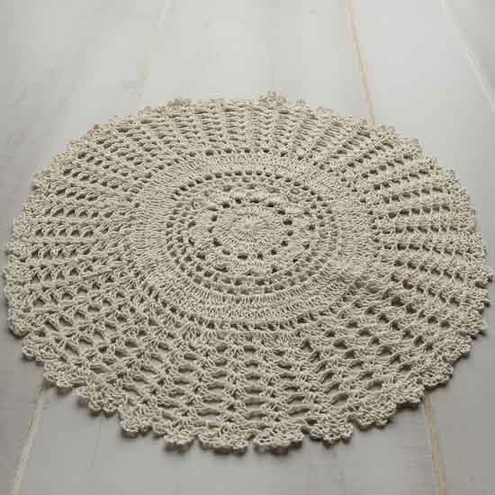 Crochet Doilies : Round Ecru Crocheted Doilies - Crochet and Lace Doilies - Home Decor