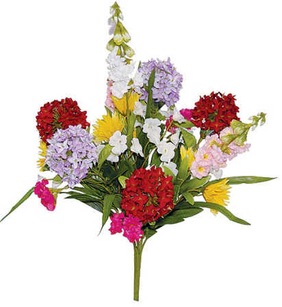 Fresh as spring mixed artificial silk flowers bouquet bushes and item mtf7541 spring mixed silk flower mightylinksfo